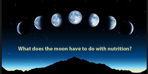 What does the moon have to do with nutrition?